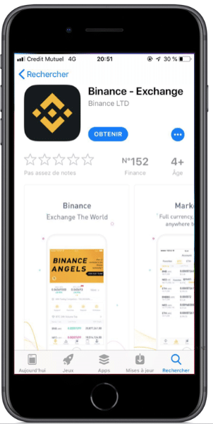 Explications téléchargement binance application trading crypto