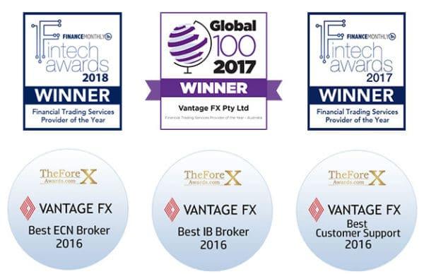 Broker VantageFX récompense fintech awards global 100